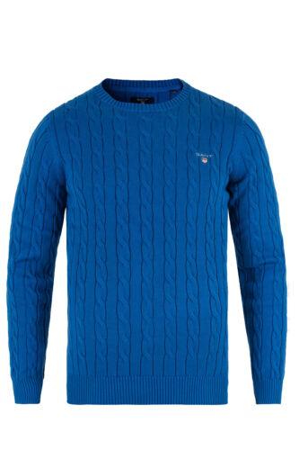 GANT Nautical Blue Men/'s Cotton Cable Crew Sweater 80051 Size M $155 NWT