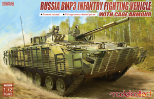 Modelcollect UA72179-1//72 BMP3 Infantry Fighting Vehicle with Cage Armour