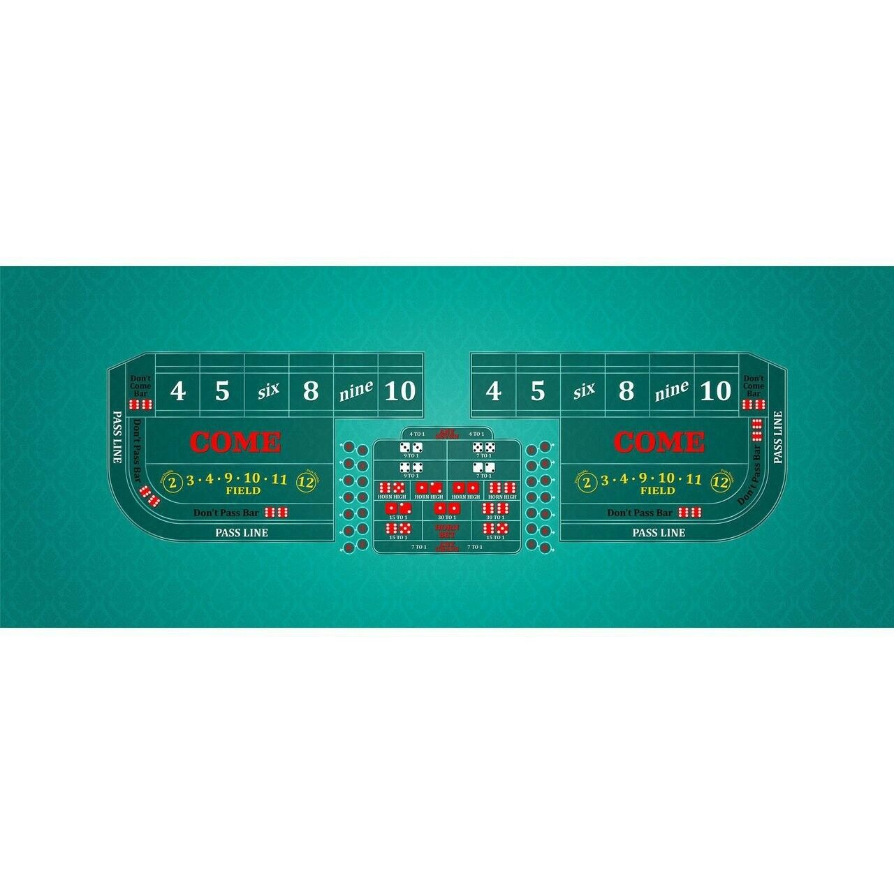 Classic Craps Layout - TEAL