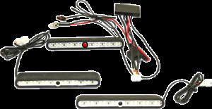 Custom Dynamics Black Tour Pak Saddlebag Interior Light Kit for Harley Touring