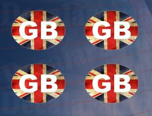 4-x-Small-GB-Vintage-Style-Union-Jack-Car-Van-Truck-Lorry-Printed-Stickers