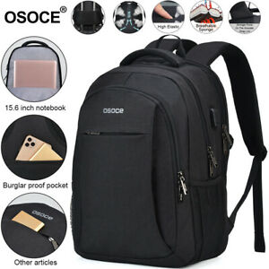 Black-Gray-Men-Women-Outdoor-Travel-Bag-Waterproof-School-Laptop-Bag-Backpack