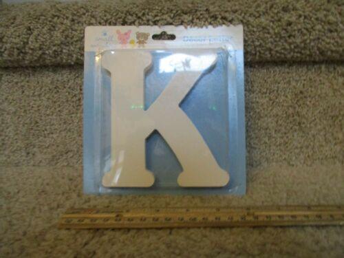 K Small Wonders Decorative Wall Decals Nursery Decor Letter White Wooden Craft