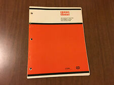 Case Ingersoll 210 Compact Tractor Parts Catalog A1374 S/N 9733525 and After