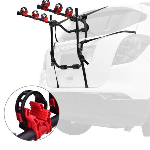 3 BICYCLE BIKE CAR CYCLE CARRIER RACK UNIVERSAL FITTING SALOON ESTATE HATCHBACK