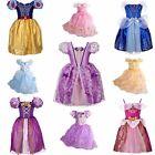 Cinderella Girl Dress Children Snow White Princess Rapunzel Halloween Costume/