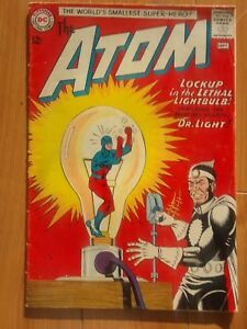 THE ATOM #8 FINE+     DR. LIGHT!      GIL KANE art!