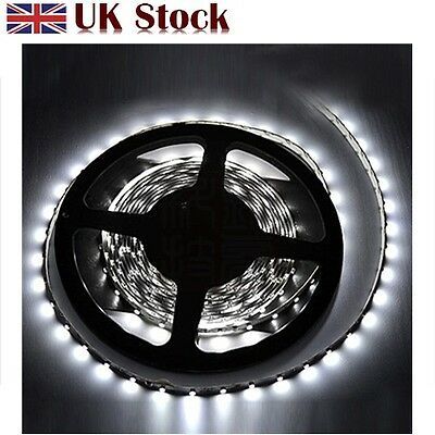 5M 3528 DAY WHITE 300 LEDS WATERPROOF FLEXIBLE STRIP LIGHTING12V DIY PARTY CAR