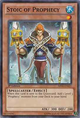 3 x Stoic of Prophecy (ABYR-EN021) - Common - Near Mint - 1st Edition
