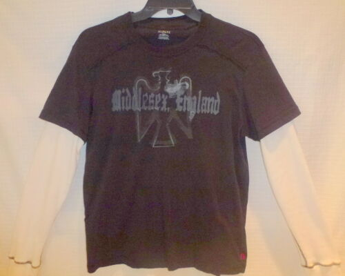 Macy's Alfani Men's Black Long Sleeve Sweatshirt T Top Shirt Men's Large