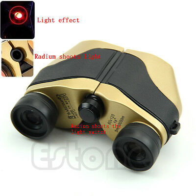 New 80x120 Spotting LED Scope Binoculars Telescope Optical Zoom 5m-10000M Gold