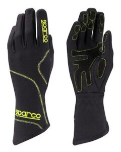 Sparco-Groove-GLOVES-size-4-12-Black-Yellow-KART-RACE-RALLY-Sport-Drive