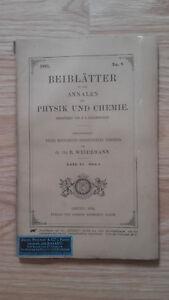 E. Wiedemann - Beiblatter Zu Den Annalen Der Physik Und Chemie - 1891 - N°8