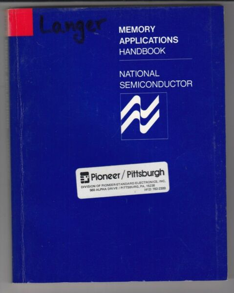 Ambitieus National Semiconductor Data Book 1978 Memory Applications Handbook Ic Book /t3