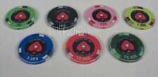 PCA Casino Quality Ceramic Poker Chips - 7 chip sample