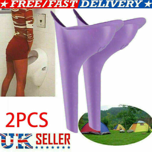 2pcs Ladies Woman She Portable Female Urinal Urine Wee Funnel Camping Travel UK