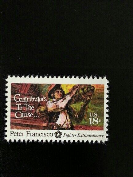1975 18c Peter Francisco, American Patriot & Soldier Sc