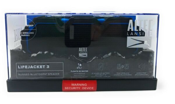 100% Waar Altec Lansing Lifejacket 3 Waterproof Rugged Bluetooth Speaker - Black, Blue-new