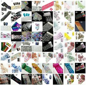 Holographic-Nail-Art-Transfer-Tape-Foils-Snowflake-Broken-Glass-Marble-Flowers