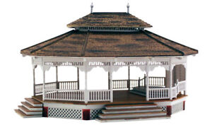 New-Woodland-HO-Scale-Structure-Built-amp-Ready-Grand-Gazebo-BR5035
