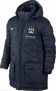 Image is loading NIKE-Official-Manchester-City-FC-padded-hooded-winter- 012f255cf