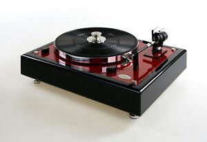 Restaurierter-Thorens-TD146-Plattenspieler-Endabschaltung-caliente-red-metallic
