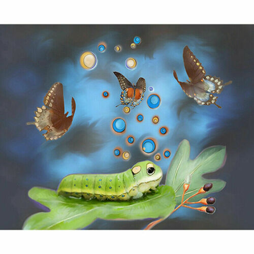 5D DIY Full Drill Diamond Painting Butterfly Embroidery Cross Stitch Kit Home