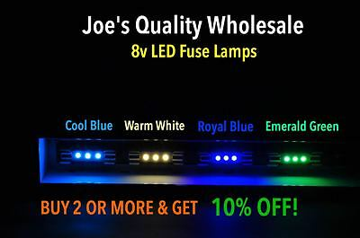 (25)cool Blue/warm White 3 Led 8v-fuse Lamps- 2230 2238-4300-4400-4240-2330/dial Goedkope Verkoop 50%