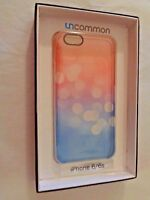 Uncommon Clear Deflector Case Iphone 6 6s Bokeh Blush Pink Blue Dot Dots