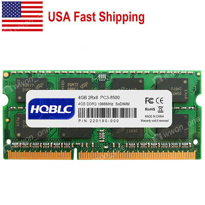 "4GB Module 1066 DDR3 SODIMM Memory For Apple MacBook Pro 13/"" MB990LL//A New"