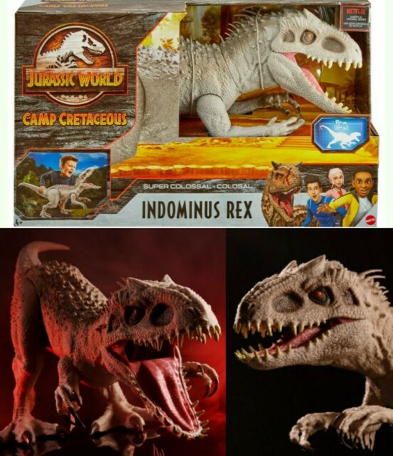 Jurassic World Camp Cretaceous Super Colossal Indominus Rex XL LARGE 3.5FT LONG!
