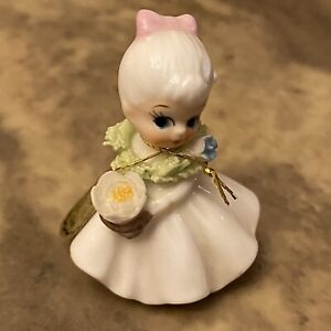 Vintage Napcoware Birthday Flower Girl Of The Month July Water Lilly