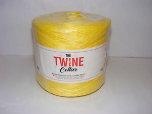 strong-UK-manufactured-Yellow-polypropylene-1kg-Twine-spool-for-garden-DIY-use