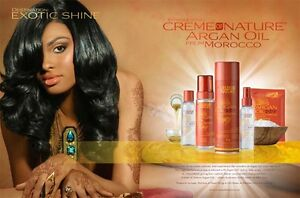 Cream of Nature Argan Huile ,Shampooing,Après-shampooing,Spray,Serum / Complet