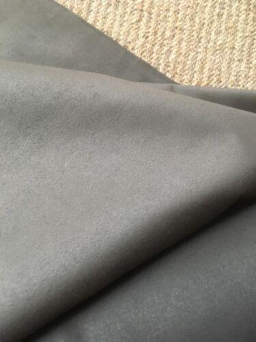 "Majilite Novasuede Fabric in Dark Taupe//charcoal 52/"" 5 Yard cut Light Weight"