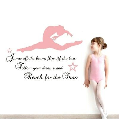 Once upon a time .. Ballerina Any Name Wall Sticker quote Ballet Dancing Dance