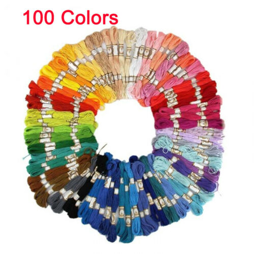 Lots 50//100//447pcs Cotton Floss Sewing Skeins Cross Stitch Thread Embroidery DIY