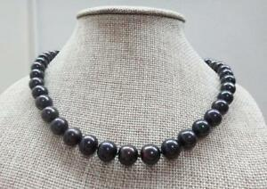HUGE-18-034-10-11mm-natural-south-sea-genuine-black-perfect-round-pearl-necklace-14k