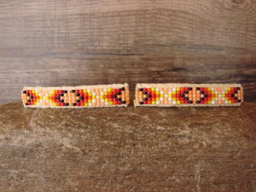 Details about  /Native American Jewelry Hand Beaded Hair Barrette Set by Jacklyn Cleveland