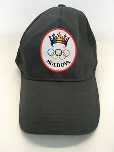 Joma-Moldova-Baseball-Hat-Cap-Olympic-Rings-Gray-Adjustable-Size-56-58