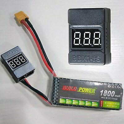 2S-3S RC Lipo Battery Low Voltage Tester Checker Alarm Indicator Buzzer LED  I