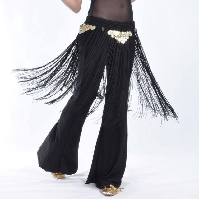 New Belly Dance hip scarf Belt Tribal Fringe Tassel 9 colors