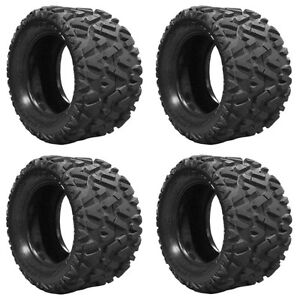 Set Of 4 Lifted Golf Cart Tires 23x10 00 14 Gtw Barrage 4 Ply Mud