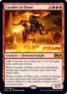 Cavalier of Flame x4 PL Magic the Gathering 4x Magic 2020 mtg card lot