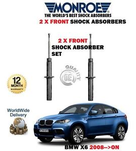 FOR BMW X6 E77 + XDRIVE 2008-2014 2x FRONT SHOCK ABSORBER SHOCKER SET