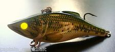 Rattlin Rapala RNR-07 Lure B.Bass w/Custom GLOWING CHARTREUSE FIBER OPTIC EYES