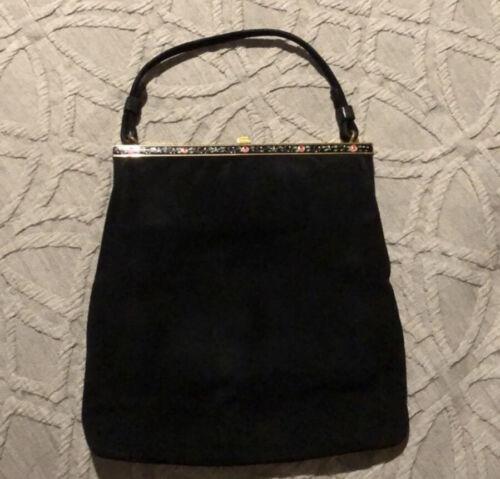 EUC Black Suede Vintage coblentz purse