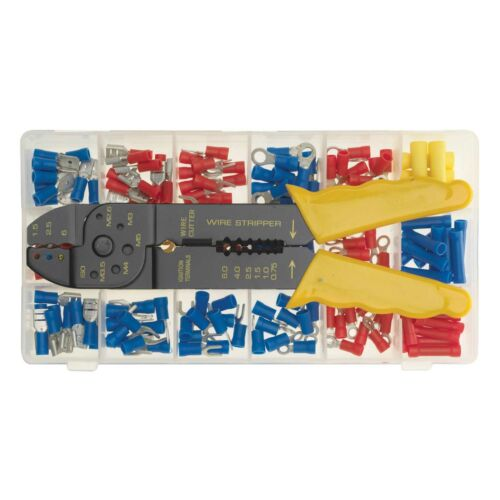 Auto Marine Pre Insulated Terminal Assortment With Tool 175 Piece Kit