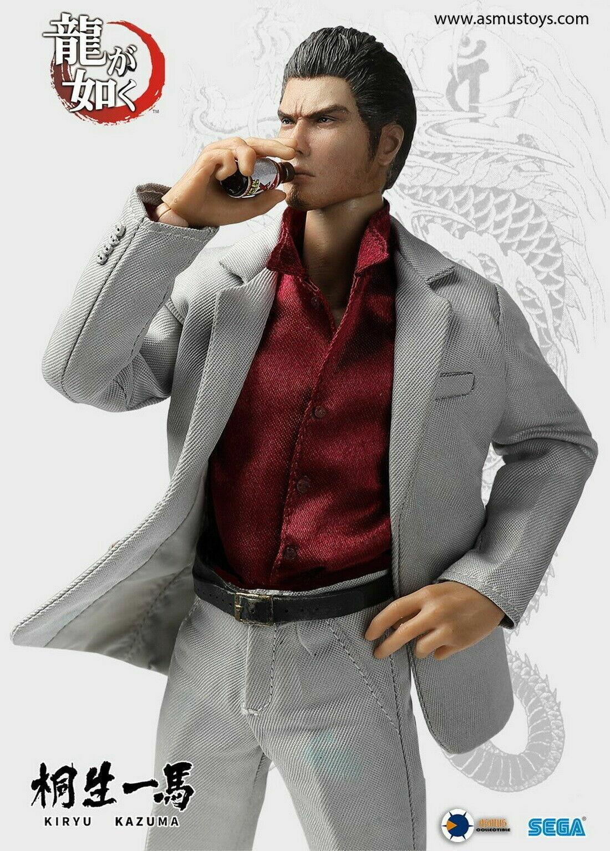 Asmus Toys 8'' YAKU01A KIRYU KAZUMA YAKUZA Game Male Action Figure Collectible