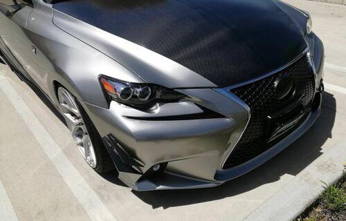 4 Pcs Carbon Texture Bumper Canard Splitter Fin Spoiler Valence Diffuser for BMW